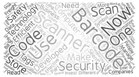 Developments In The Barcode Tags And Scanners Industry text background wordcloud concept