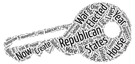 Democrats Will Not Win House Republicans Will Lose It text background word cloud concept