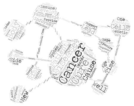 pancreatic cancer: Cure alternative pancreatic vaccine text background word cloud concept