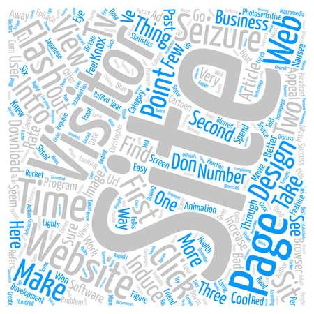 seizures: Does Your Website Induce Seizures text background word cloud concept Illustration