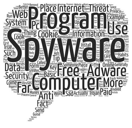 computer viruses: Basic Spyware Tips Word Cloud Concept Text Background