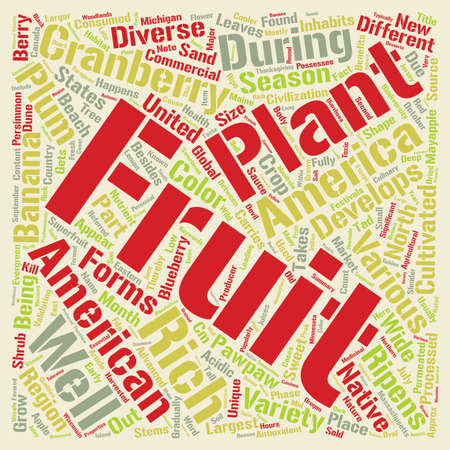 inhabits: Fruits That Grow In Different Seasons In The US text background word cloud concept