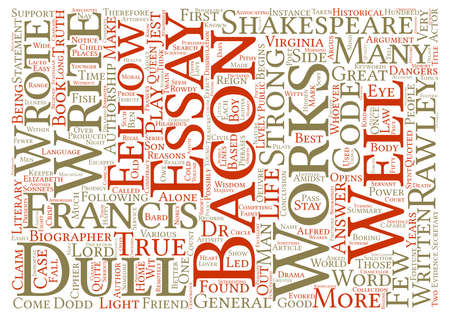 shakespeare: Francis Bacon Too Dull For Shakespeare Word Cloud Concept Text Background