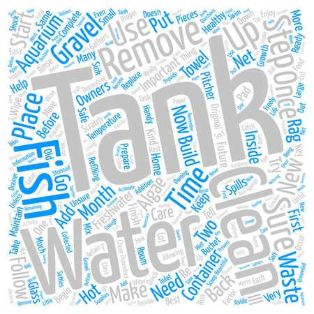 freshwater aquarium care text background word cloud concept
