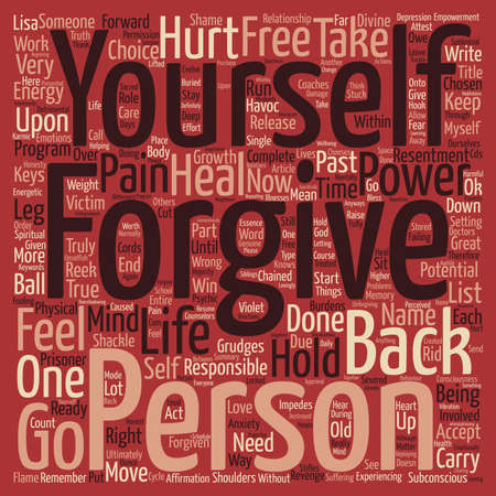 shackled: Forgive or Else You Are Shackled Like a Prisoner to Your Past Word Cloud Concept Text Background Illustration