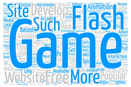 Flash Games Word Cloud Concept Text Background Illustration
