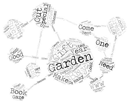 Gifts for the Gardener Word Cloud Concept Text Background