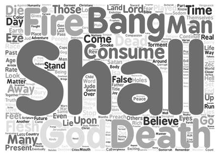 Bang Bang Your Dead Word Cloud Concept Text Background Illustration