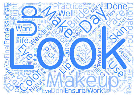 finally: Beauty Tips For The Bride text background wordcloud concept