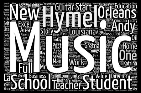 From Work At Home Guitar Teacher To Full Music School Word Cloud Concept Text Background