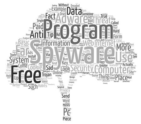 computer viruses: Basic Spyware Tips text background wordcloud concept