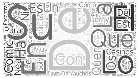 Divierte y Busca un Comic Book text background word cloud concept Ilustração