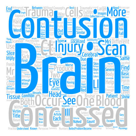 How Are Brain Contusions Different from Brain Concussions text background word cloud concept