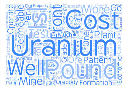 uranium: How to Evaluate an ISL Uranium Company Word Cloud Concept Text Background Illustration