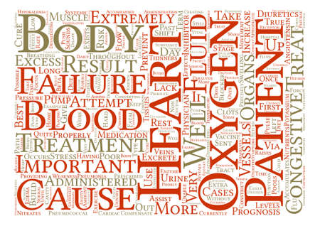 How do Physicians Treat Congestive Heart Failure text background word cloud concept