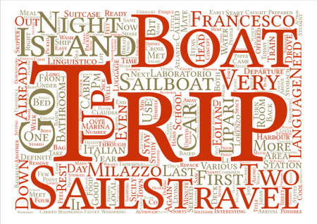 eolian islands: Hello From Sicily Eolian Islands Here We Come Word Cloud Concept Text Background Illustration
