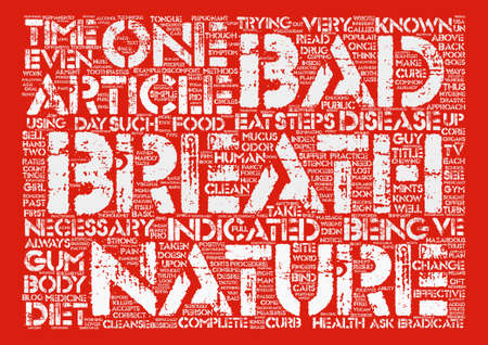 How to Cure Bad Breath Permanently text background word cloud concept