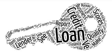How Do I Qualify for a Business Loan text background word cloud concept Illustration