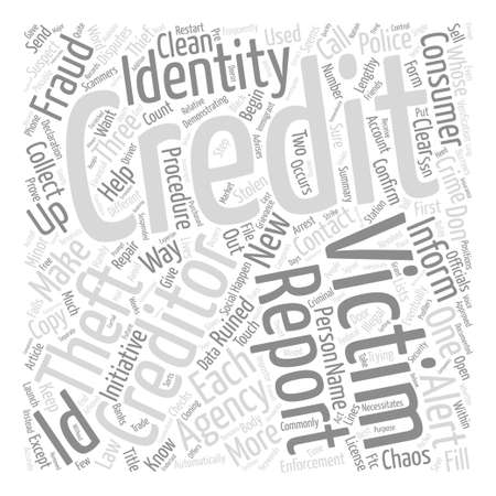 eventually: How To Clean Up Your Credit Ruined By Scammers text background word cloud concept