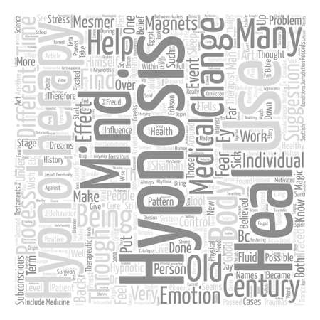 therapeutic: History Of Hypnosis text background wordcloud concept