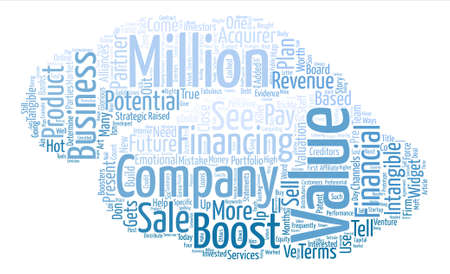 How To Boost The Value Of Your Business Word Cloud Concept Text Background