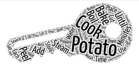 How to Buy Store and Prepare Potatoes text background word cloud concept