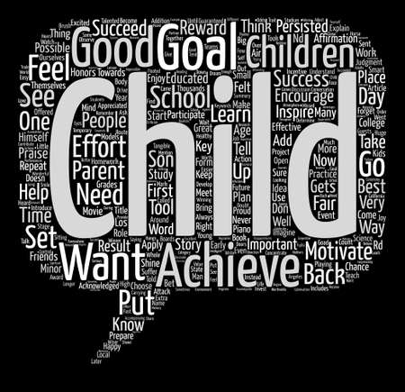 assignments: How Can I Motivate My Child Word Cloud Concept Text Background Illustration
