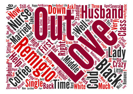 How A Head Cold Got Me Married text background wordcloud concept