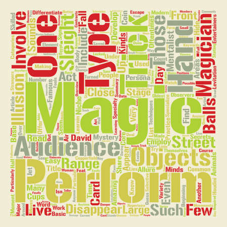 How Did They Do That Types Of Magic Tricks Word Cloud Concept Text Background