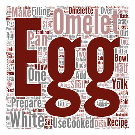 How to Make an Omelet text background word cloud concept