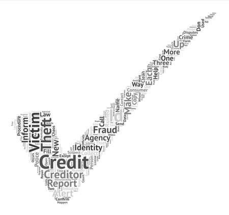 eventually: How To Clean Up Your Credit Ruined By Scammers Word Cloud Concept Text Background
