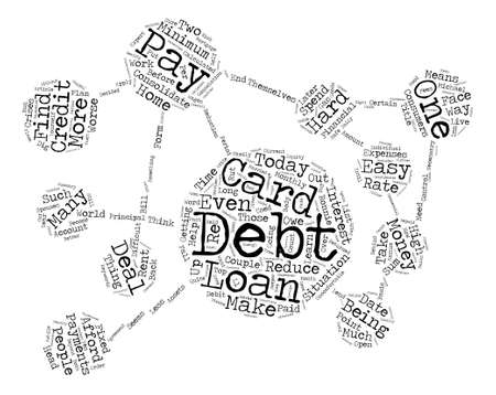 How To Pay Off Debt text background word cloud concept