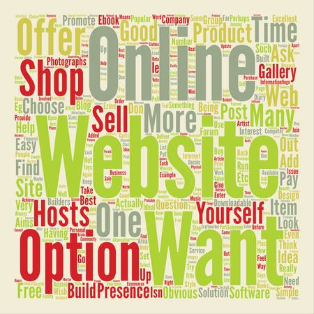 How To Choose The Right Website For You text background word cloud concept
