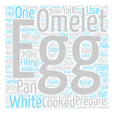 How to Make an Omelet Word Cloud Concept Text Background