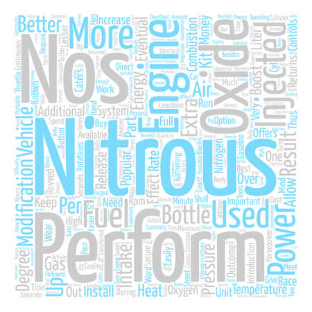 How Does NOS Work Word Cloud Concept Text Background