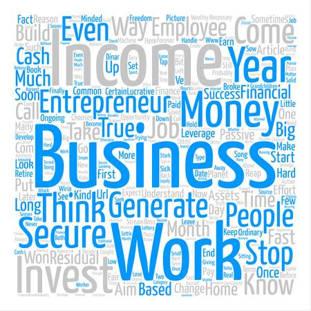 cloud based: How Home Based Business Entrepreneurs Think text background word cloud concept Illustration