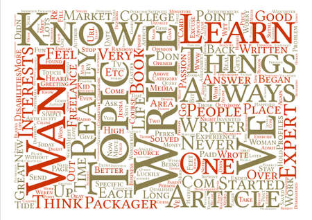 article writing: How To Outgrow Write What You Know text background word cloud concept