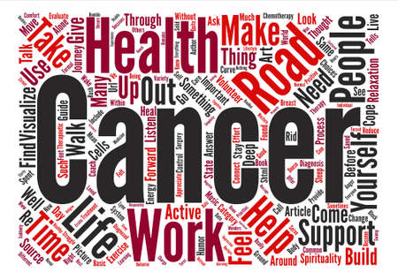 How to Cope With Cancer text background word cloud concept Illustration
