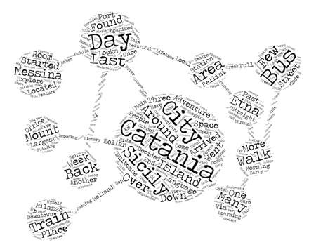 catania: Hello From Sicily My Last Day In Catania Word Cloud Concept Text Background