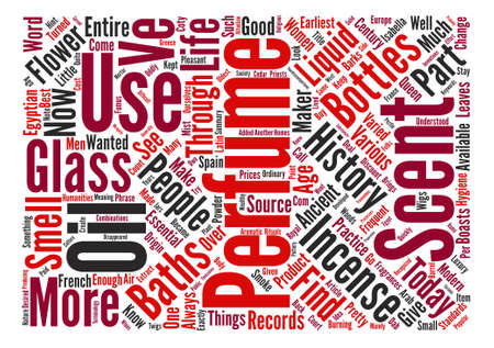 History of perfume text background word cloud concept Illusztráció