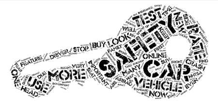 How To Identify Your New Car Safety Ratings text background word cloud concept