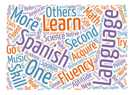 fluency: How Do I Become Fluent In A New Language Word Cloud Concept Text Background