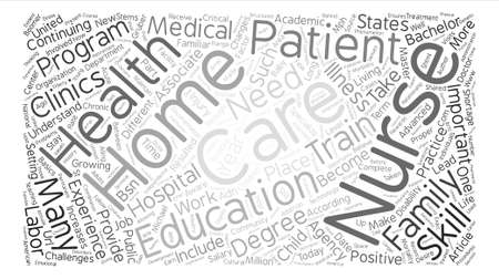 become: How to Become a Home Health Care Nurse text background word cloud concept