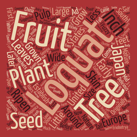History Of The Loquat text background word cloud concept