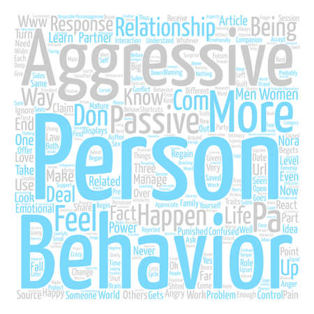 How Do You Know If Someone Has a Passive Aggressive Behaviour text background word cloud concept