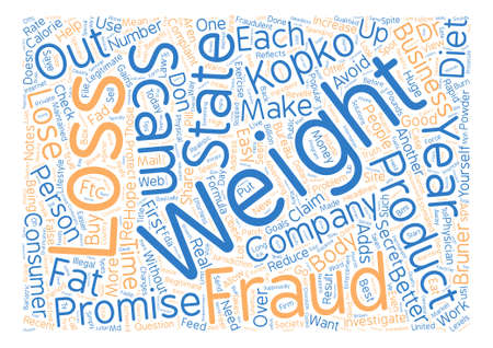 alarming: How To Avoid Common Diet Scams text background word cloud concept