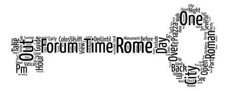 How to do Rome in hours text background word cloud concept Illustration