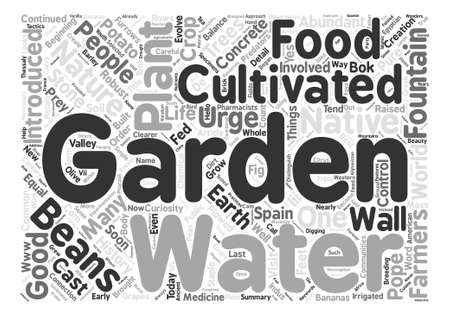 History Of The Early Gardens text background word cloud concept