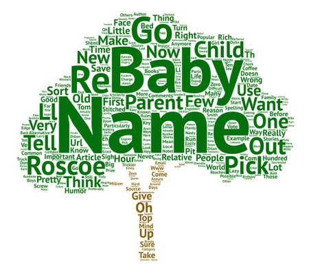 How To Name Your New Baby text background word cloud concept