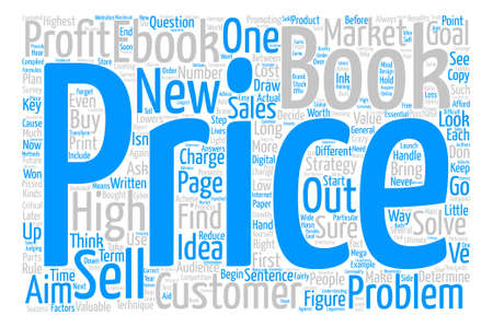 compiled: How to Price Your eBook text background word cloud concept Illustration